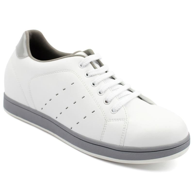 [乐昂]爆款简约白色增高板鞋