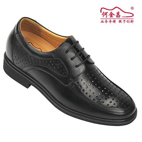 男士增高鞋 内增高凉鞋 内增高6.5cm 黑色 商品货号:X5609【何金昌】