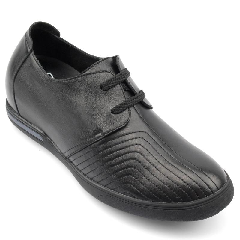 男士增高鞋 内增高休闲鞋 内增高6.5cm 黑色 商品货号:X51M22【何金昌】