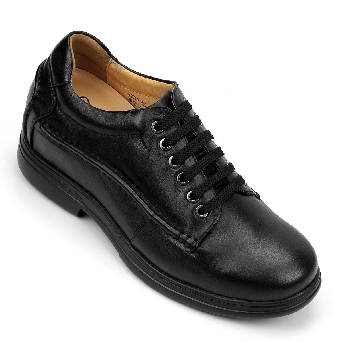 男士增高鞋 内增高休闲鞋 内增高7.5cm 黑色 商品货号:X2845【何金昌】