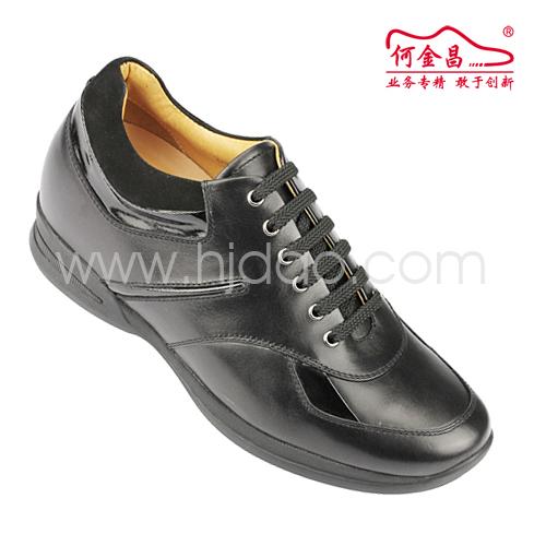 男士增高鞋 内增高休闲鞋 内增高7cm 黑色 商品货号:X32H01【何金昌】