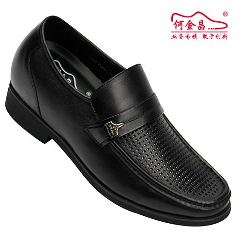 男士增高鞋 内增高凉鞋 内增高6.5cm 黑色 商品货号:X5901-5【何金昌】