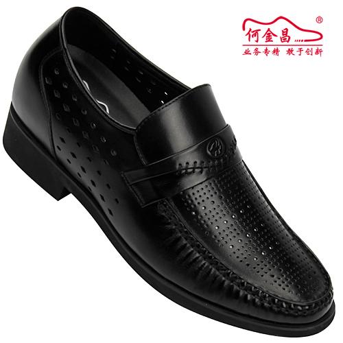 男士增高鞋 内增高凉鞋 内增高6.5cm 黑色 商品货号:X5906【何金昌】