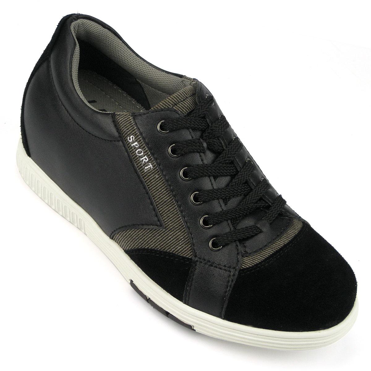 男士增高鞋 内增高板鞋 内增高6.5cm 黑色 商品货号:LK70H17-1【乐昂】