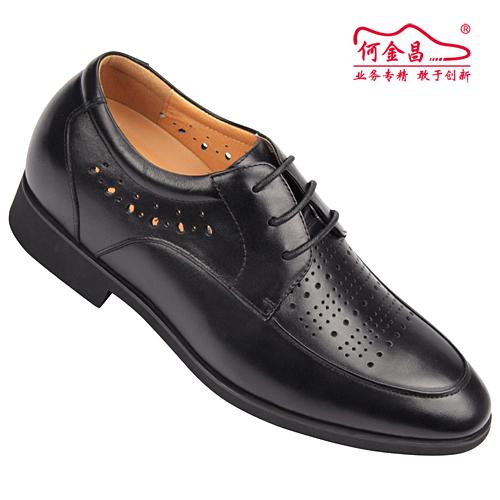 男士增高鞋 内增高凉鞋 内增高6.5cm 黑色 商品货号:X5714【何金昌】