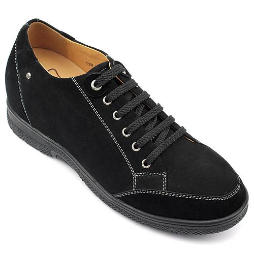 男士增高鞋 内增高板鞋 内增高7cm 黑色 商品货号:X79M12【何金昌】