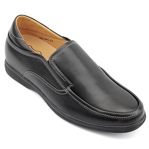 男士增高鞋 内增高休闲鞋 内增高6cm 黑色 商品货号:X89H01【何金昌】