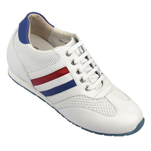 女士增高鞋 休闲滑板鞋 内增高6cm 白色 商品货号:W45F21【赫升】