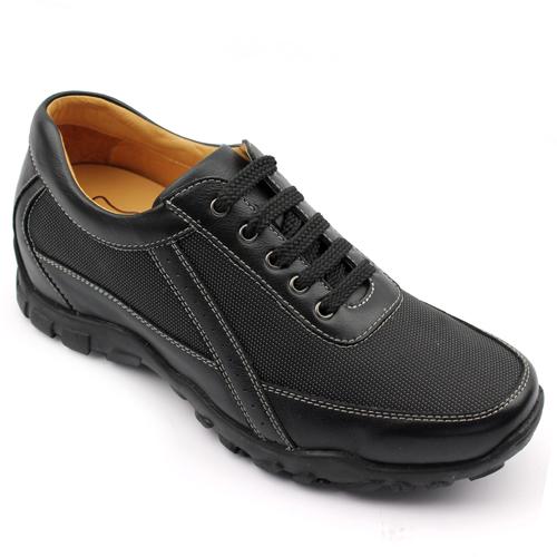 男士增高鞋 内增高板鞋 内增高6.5cm 黑色 商品货号:123A01-2【何金昌】