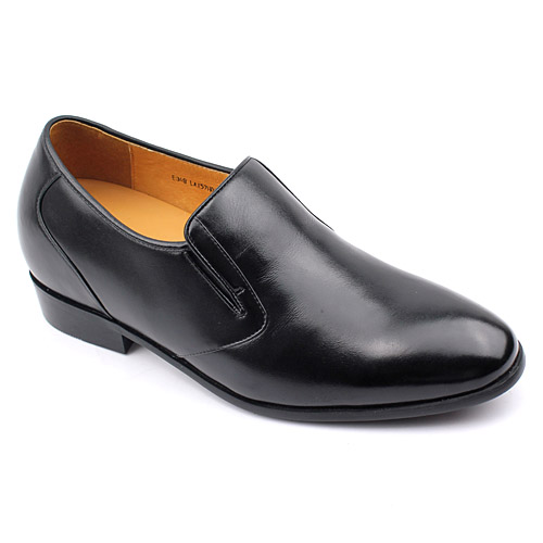 男士增高鞋 内增高皮鞋 内增高6.5cm 黑色 商品货号:LX57H01【乐昂】