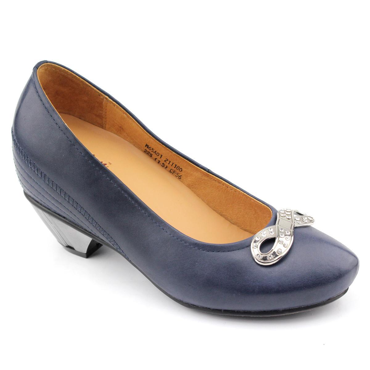 女士增高鞋 内增高单鞋 内增高8cm 蓝色 商品货号:w65a01【赫升】
