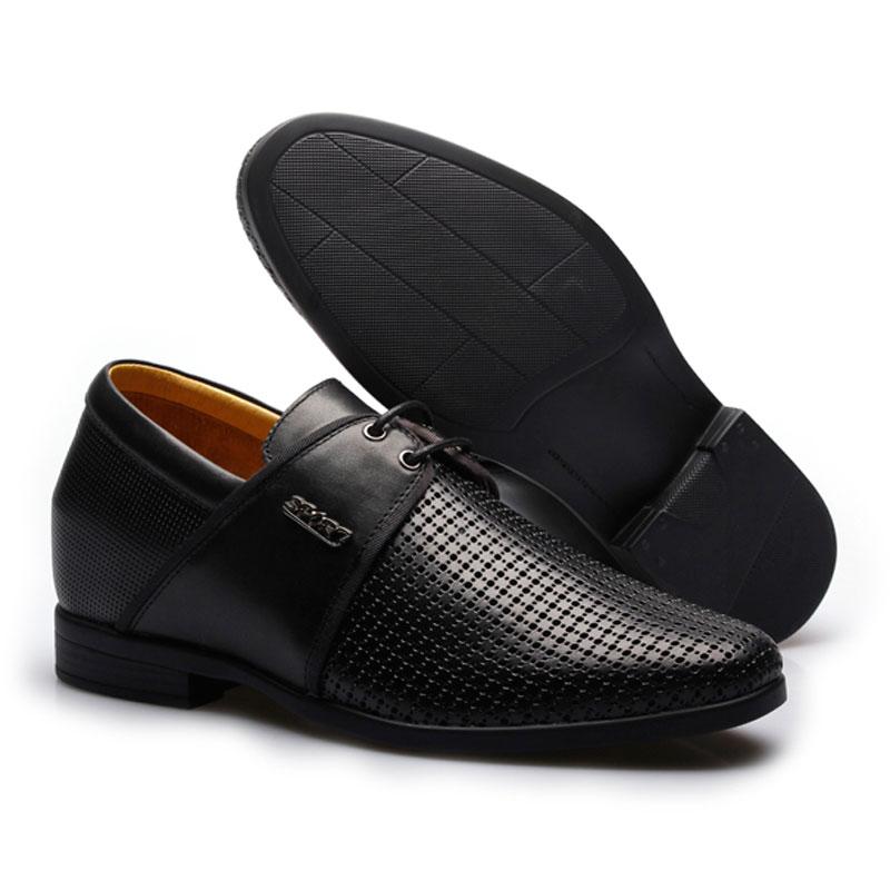男士正装商务内增高凉鞋