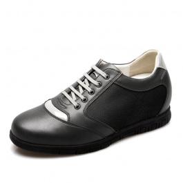 【何金昌】巴龙时尚男士内增高休闲鞋 增高7cm 灰色 314