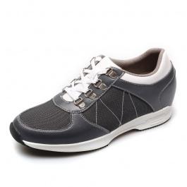 【赫升】<特价268元>女士内增高鞋女士增高运动鞋增高7CM灰色492