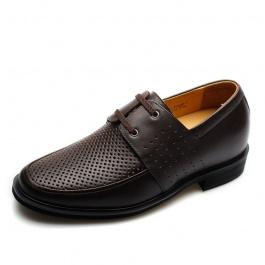 【何金昌】<任选两双>男士时尚韩版真皮凉鞋增高6.5cm680