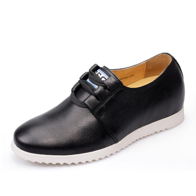 [何金昌]2014新款韩版内增高休闲鞋 时尚男鞋系带增高鞋男士潮鞋 增高5.5cm