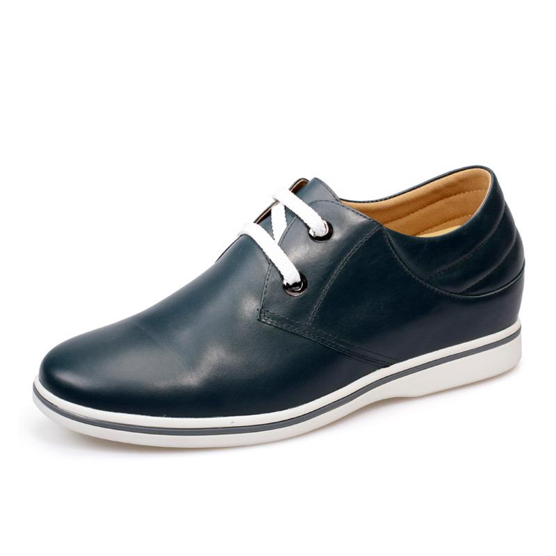 [何金昌]夏季新品增高鞋休闲内增高男鞋系带增高皮鞋韩版增高鞋 增高6CM