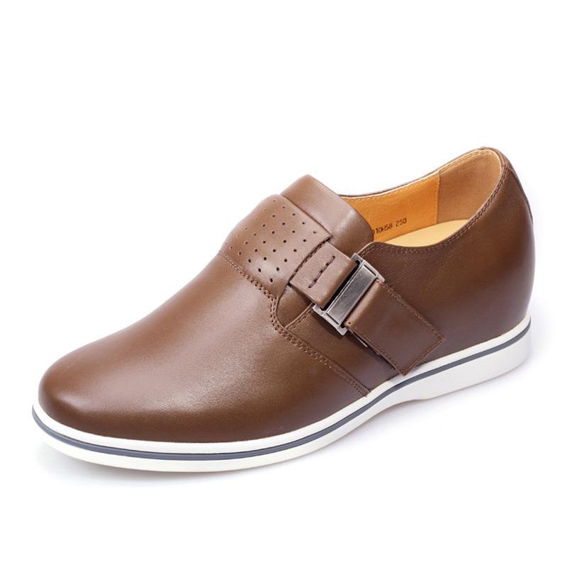 拉扣简单雅致男士增高休闲鞋