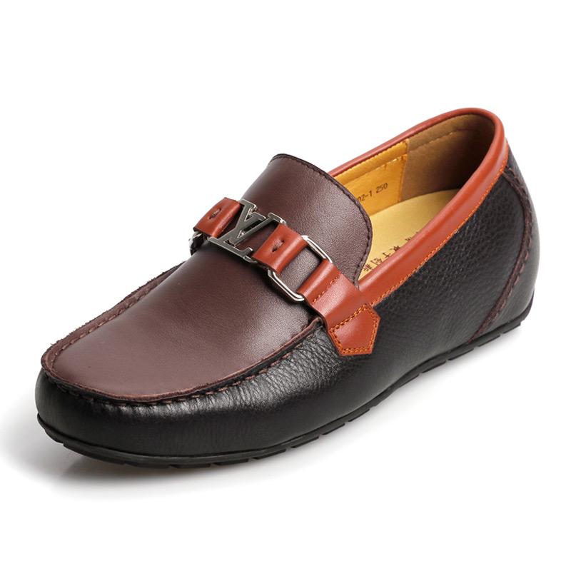 [何金昌]2014新款合金拉扣简单雅致男士流行内增高休闲鞋 增高6cm