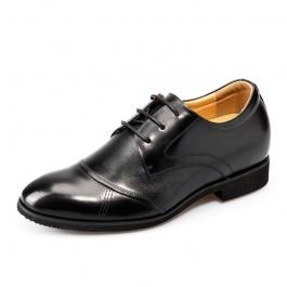 [何金昌]新品男士内增高鞋皮鞋 正装商务增高皮鞋 增高7cm