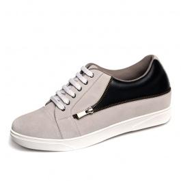 【乐昂】<买一送一>男式休闲鞋内增高鞋柔软舒适男鞋板鞋增高6厘米1079