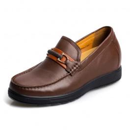 【何金昌】「特价299元」男士内增高鞋韩版牛皮休闲鞋增高6cm1253