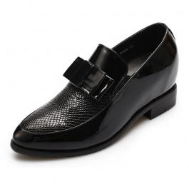【赫升】<买一送一>增高女皮鞋增高6.5黑色1421