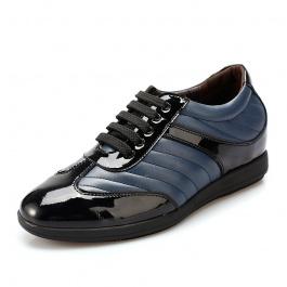 【乐昂】<特价299元>内增高休闲男鞋内增高休闲鞋增高6.5CM黑蓝1466