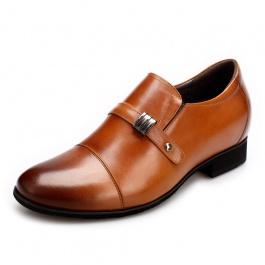 [何金昌]新款内增高皮鞋 英伦复古内增高男鞋 增高6.5CM 1504