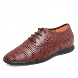 【何金昌】男士内增高凉皮鞋 商行者冰履内增高凉鞋 增高5.5CM 棕色 162