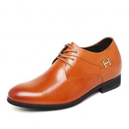 【何金昌】新款英伦隐形内增高鞋 时尚内增高皮鞋 增高7厘米 1613