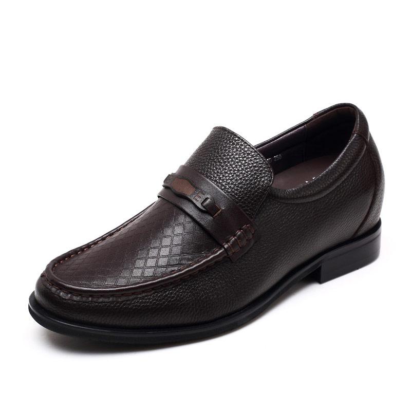[何金昌]时尚真皮内增高休闲男鞋 舒适商务休闲鞋 增高7cm 1648