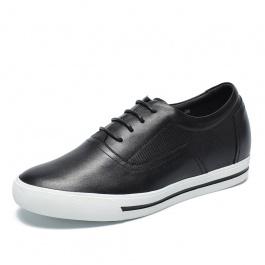【何金昌】韩版男内增高休闲鞋 内增高鞋6cm男式板鞋 黑色 1762