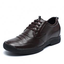 【何金昌】轻商务男士内增高鞋 隐形内增高皮鞋 增高7cm 1794