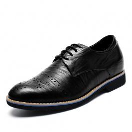 【何金昌】新款男士布洛克雕花皮鞋 男士内增高鞋 布洛克复古雕花工艺 增高6cm 1812