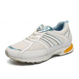 【赫升】「特价」轻盈时尚女士内增高鞋透气内增高运动鞋增高7CM白/蓝1849