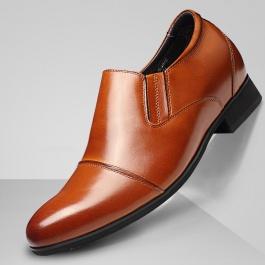 【何金昌】新款打蜡皮增高鞋 商务正装内增高皮鞋 增高7CM 1758