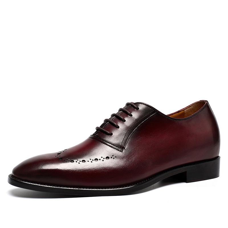 【金墨瑞】尊贵定制蛇皮内增高鞋 真蛇皮男士增高鞋 7CM