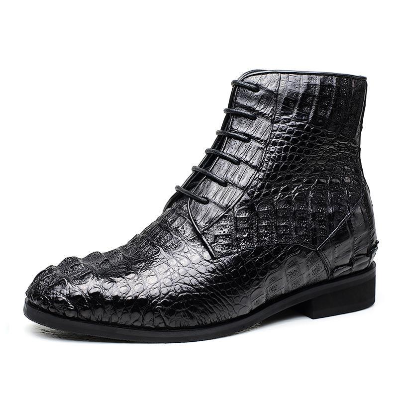 【金墨瑞】内增高鞋何金昌鹿皮男士系带内增高正装皮鞋