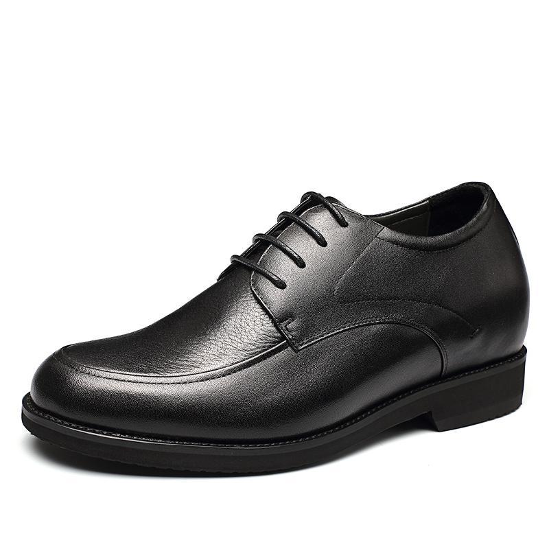 【金墨瑞】金墨瑞驼鸟皮男士隐形内增高定制正装鞋(偏大一码)