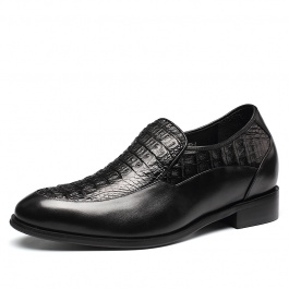 【金墨瑞】珍稀鳄鱼皮皮鞋鳄鱼身定制内增高皮鞋