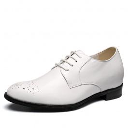 【何金昌】新款白色内增高男鞋婚鞋内增高商务正装皮鞋增高7cm
