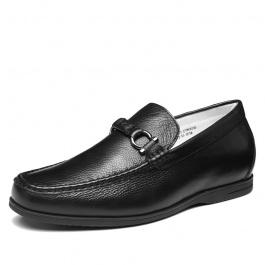 【何金昌】时尚内增高男鞋驾车鞋新款内增高商务休闲鞋增高6CM黑色