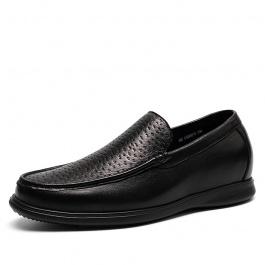 【金墨瑞】男士高端定制鞋高端鹿皮商务鞋成功男士象征7CM黑色