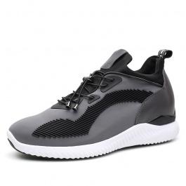 【何金昌】潮流新品运动增高鞋灰色内增高运动男鞋增高7CM