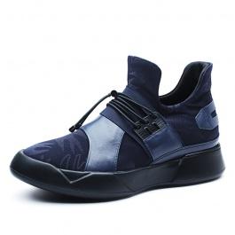 【何金昌】新款增高男鞋蓝色时尚套脚休闲运动鞋增高7CM