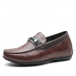 【何金昌】夏季新款乐福鞋舒适轻盈商务休闲皮鞋隐形增高6CM