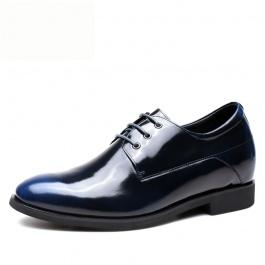 【何金昌】蓝色商务正装增高皮鞋 7CM