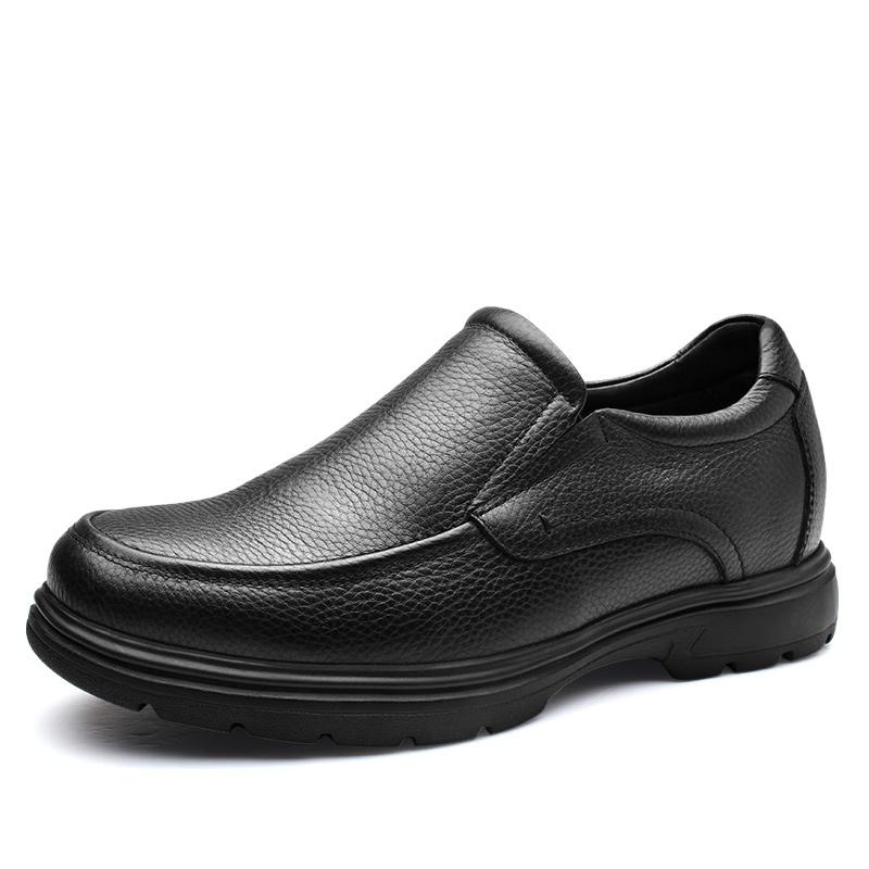 【何金昌】商务休闲增高皮鞋 隐形增高7CM