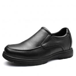 【何金昌】商务臻品男士增高皮鞋 黑色 增高8CM